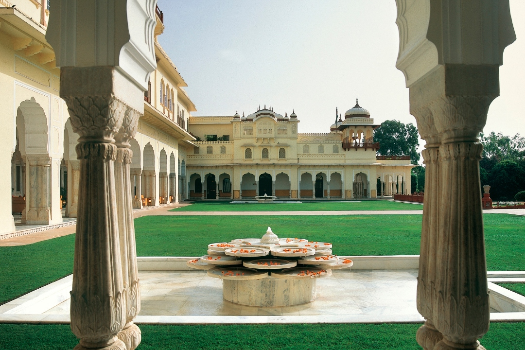 Taj Rambagh Palace Jaipur India Kesar Bagh Lawns 1