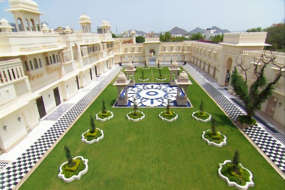 The Oberoi Udaivilas Udaipur India Front Lawns 1