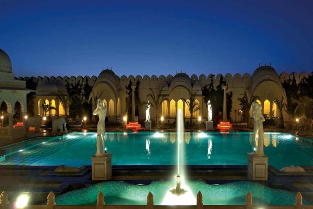 Shiv Vilas Resort Jaipur India Poolside 1