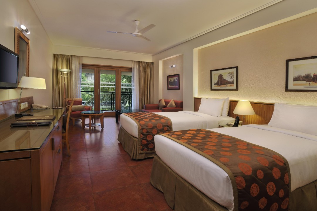 Double Tree by Hilton Hotel Goa Arpora Baga Goa India Twin guest room pool view 1