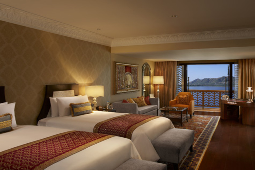 The Leela Palace Udaipur India Grand Heritage Lake View Room With Balcony 1