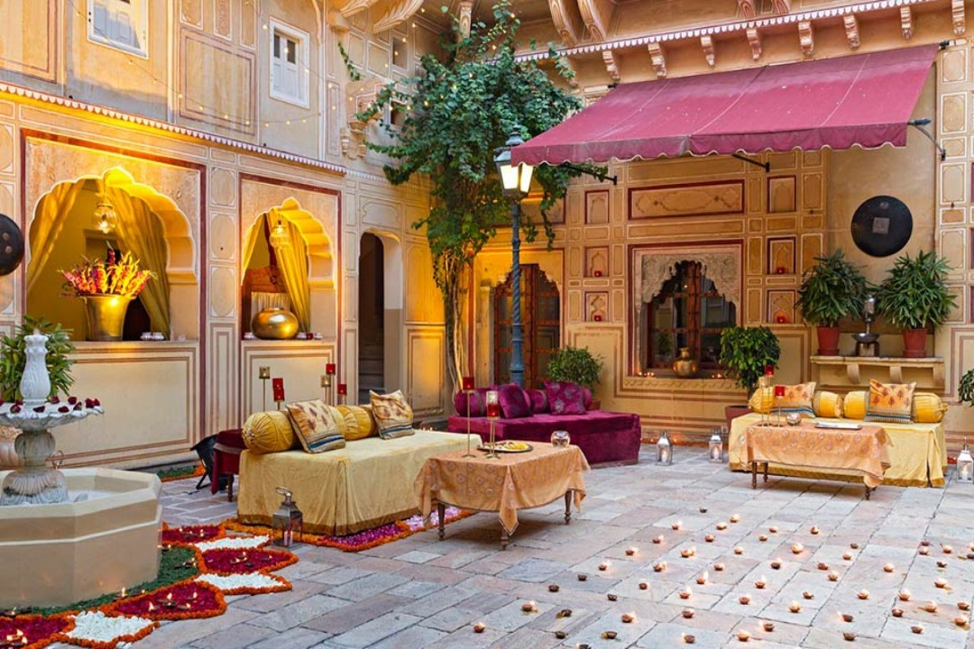 Samode Palace Jaipur India Durbar Hall 2